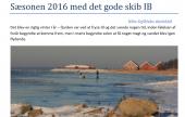 Sæson 2016 med det gode skib IB