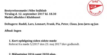 Referat bestyrelsesmøde 12-09-2017