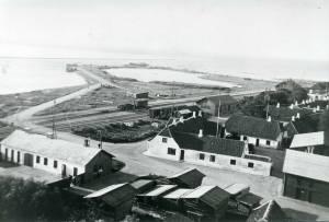 havnen set fra Limfabrikkens skorsten