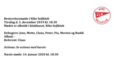 Referat fra bestyrelsesmøde 3/12-2019